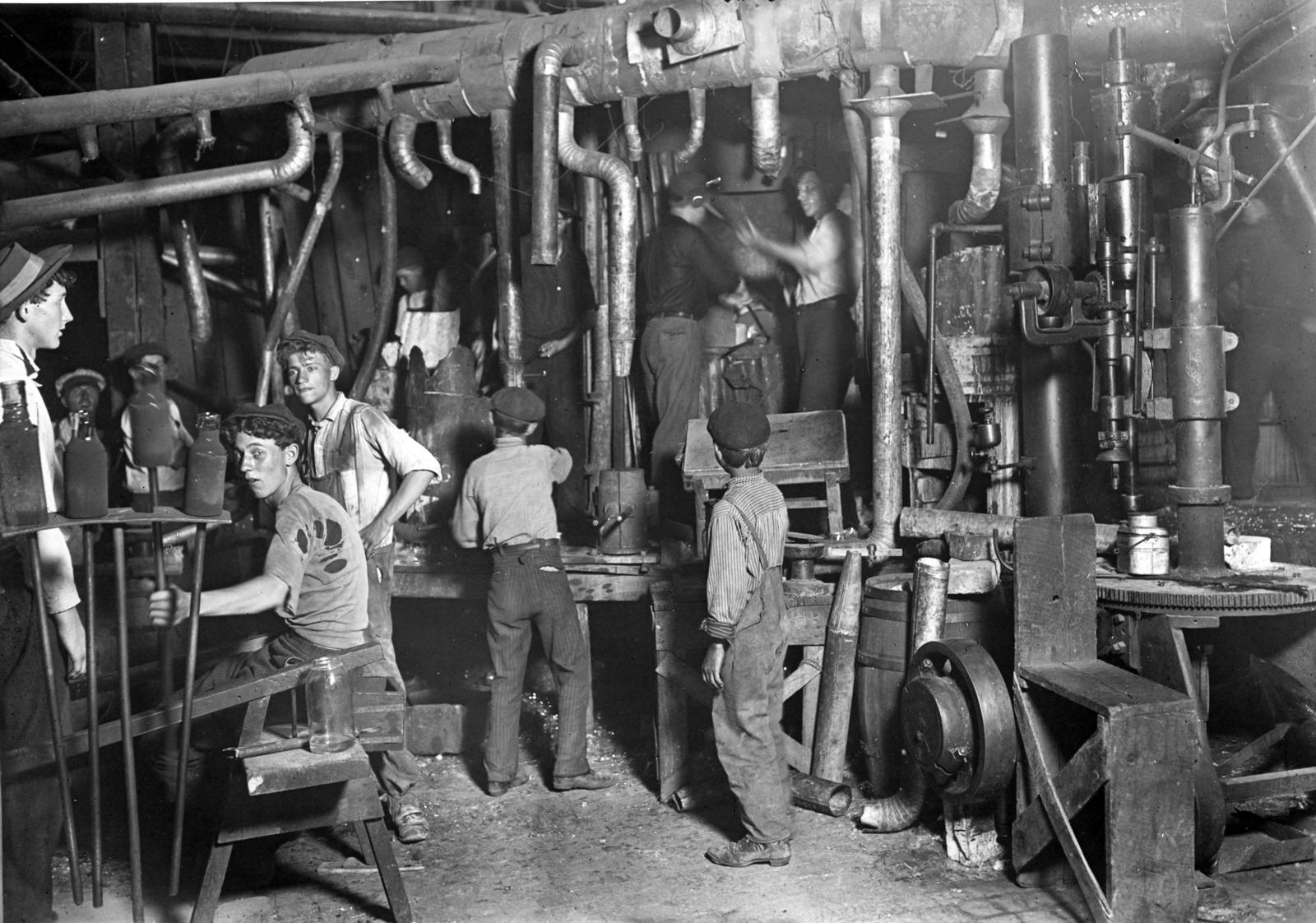 Eine negative Folge der Industrialisierung war die Kinderarbeit